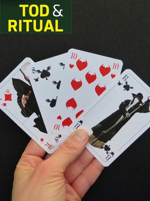 Auf dem Foto sieht man das Kartenspiel