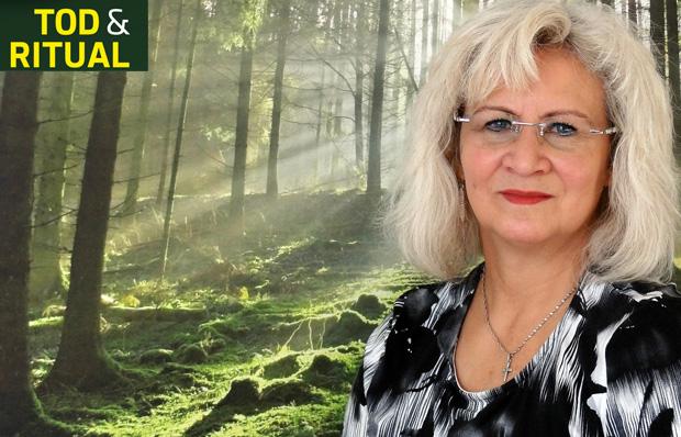 Portrait der Chemnitzer Trauerrednerin Sybille Walther